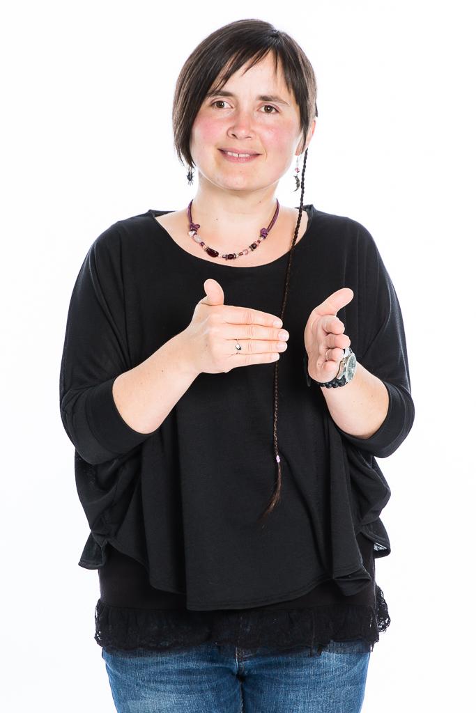Portrait professionnel langue des signes